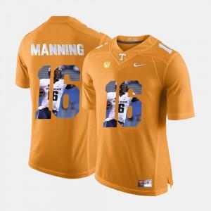 Men Tennessee #16 Peyton Manning Orange Pictorial Fashion Jersey 353253-190