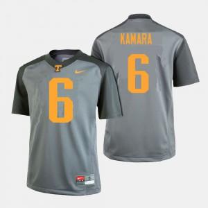 For Men's VOL #6 Alvin Kamara Gray College Football Jersey 188945-187