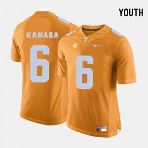 Youth University Of Tennessee #6 Alvin Kamara Orange College Football Jersey 521293-584