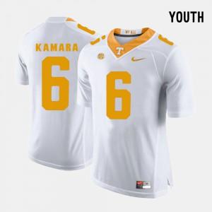 Kids University Of Tennessee #6 Alvin Kamara White College Football Jersey 589551-164