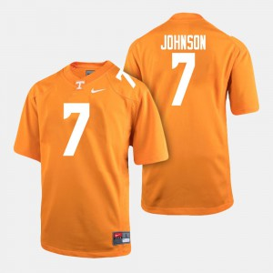 Men VOL #7 Brandon Johnson Orange College Football Jersey 342884-858
