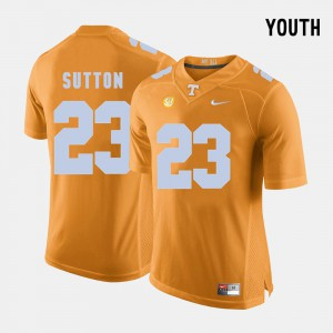 Youth Tennessee Volunteers #23 Cameron Sutton Orange College Football Jersey 604838-302