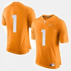 For Men's UT #1 Orange College Football Jersey 542604-715