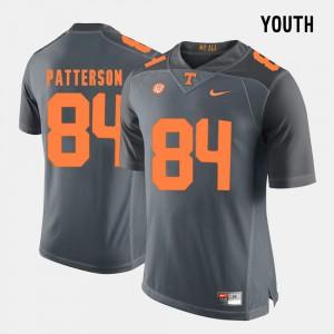 Kids TN VOLS #84 Cordarrelle Patterson Grey College Football Jersey 289955-623
