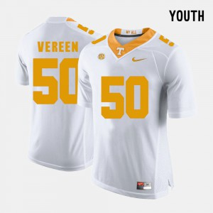 For Kids Vols #50 Corey Vereen White College Football Jersey 945637-685