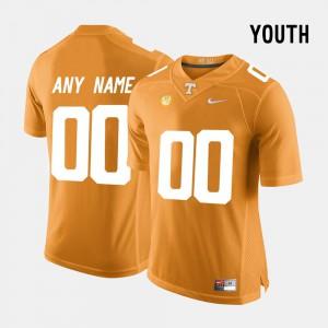Kids Tennessee Volunteers #00 Orange College Limited Football Customized Jerseys 171534-163