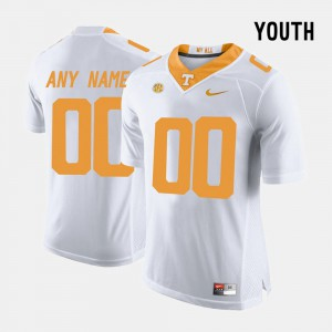 Youth(Kids) University Of Tennessee #00 White College Limited Football Custom Jersey 940252-868