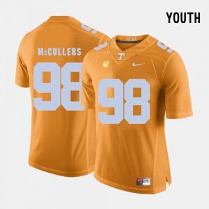 Youth(Kids) TN VOLS #98 Daniel McCullers Orange College Football Jersey 824629-658
