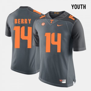 For Kids TN VOLS #14 Eric Berry Grey College Football Jersey 880672-885