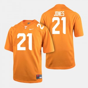 For Men VOL #21 Jacquez Jones Orange College Football Jersey 214459-139