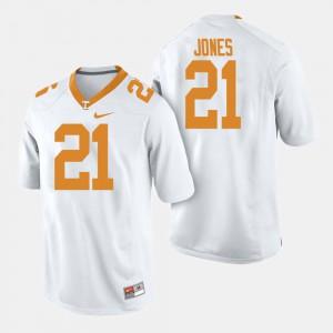 Mens Vols #21 Jacquez Jones White College Football Jersey 620563-460