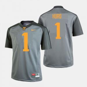 Men VOL #1 Jalen Hurd Gray College Football Jersey 272576-323