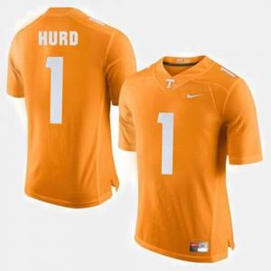 Men VOL #1 Jalen Hurd Orange College Football Jersey 303369-148