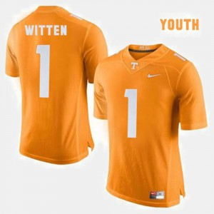 Kids Tennessee Vols #1 Jason Witten Orange College Football Jersey 775303-716