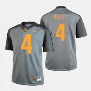 Men University Of Tennessee #4 John Kelly Gray College Football Jersey 362913-591