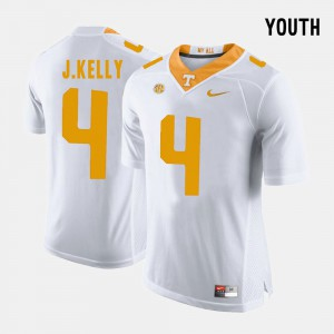 Youth(Kids) Vols #4 John Kelly White College Football Jersey 315467-686