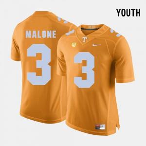 Youth UT Volunteer #3 Josh Malone Orange College Football Jersey 612055-448