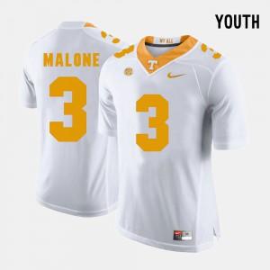 Youth(Kids) Vols #3 Josh Malone White College Football Jersey 979783-369