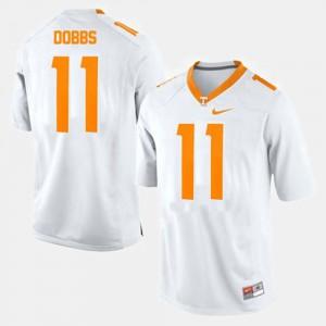 Men VOL #11 Joshua Dobbs White College Football Jersey 195031-882