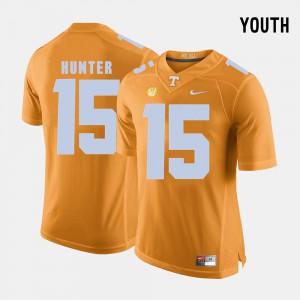 Youth(Kids) TN VOLS #15 Justin Hunter Orange College Football Jersey 835419-922