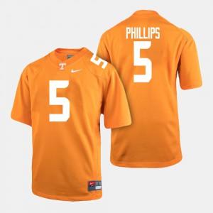 Men UT VOLS #5 Kyle Phillips Orange College Football Jersey 173020-577