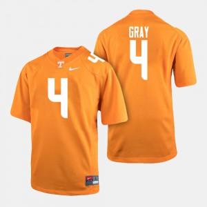 For Men's Vols #4 Maleik Gray Orange College Football Jersey 148221-364
