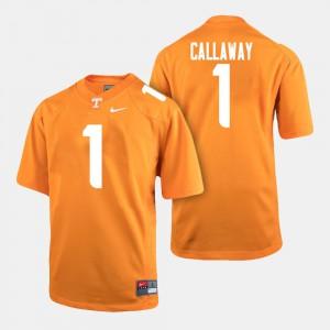 Men's Tennessee #1 Marquez Callaway Orange College Football Jersey 680717-990