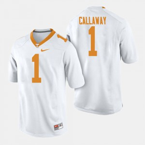Mens VOL #1 Marquez Callaway White College Football Jersey 765058-852