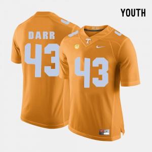 Youth Vols #43 Matt Darr Orange College Football Jersey 871340-651