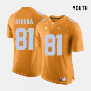 Youth Vols #81 Mychal Rivera Orange College Football Jersey 453332-651