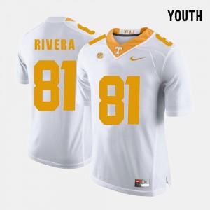 For Kids TN VOLS #81 Mychal Rivera White College Football Jersey 325410-517