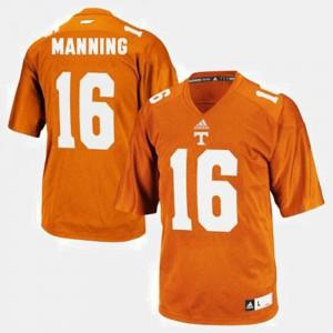 Kids Tennessee Vols #16 Peyton Manning Orange College Football Jersey 286164-950