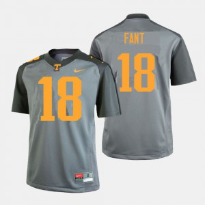 Men UT #18 Princeton Fant Gray College Football Jersey 991639-252