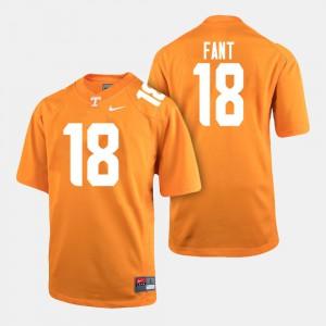 Men's VOL #18 Princeton Fant Orange College Football Jersey 148872-833
