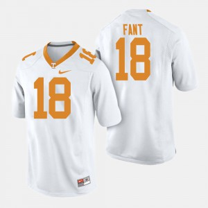 For Men's Tennessee #18 Princeton Fant White College Football Jersey 994294-957