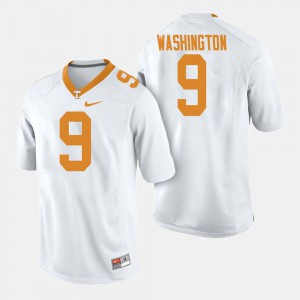For Men Tennessee #9 Seth Washington White College Football Jersey 553852-803