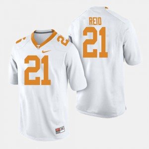 Mens TN VOLS #21 Shanon Reid White College Football Jersey 234690-560