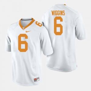 Men UT VOLS #6 Shaq Wiggins White College Football Jersey 516891-139