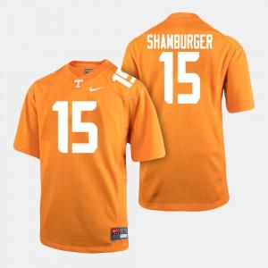Mens Tennessee #15 Shawn Shamburger Orange College Football Jersey 301680-521