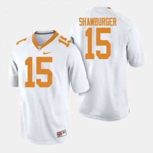 Men TN VOLS #15 Shawn Shamburger White College Football Jersey 706519-203