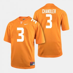 Mens Vols #3 Ty Chandler Orange College Football Jersey 191787-246