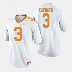 Men's Tennessee Volunteers #3 Ty Chandler White College Football Jersey 250990-204