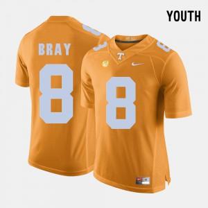 Kids UT Volunteer #8 Tyler Bray Orange College Football Jersey 379668-925