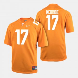 Men UT Volunteer #17 Will McBride Orange College Football Jersey 948674-301