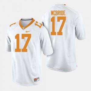 Men's TN VOLS #17 Will McBride White College Football Jersey 832767-267