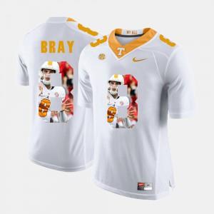 For Men UT Volunteer #8 Tyler Bray White Pictorial Fashion Jersey 630650-126