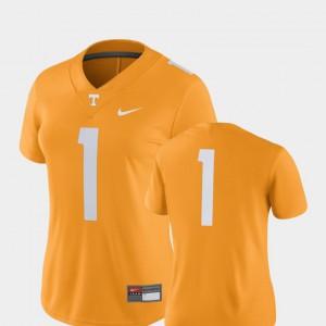 Ladies TN VOLS #1 Tennessee Orange College Football 2018 Game Jersey 726646-155