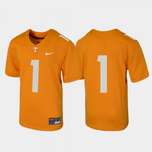 For Kids Tennessee #1 Tennessee Orange Untouchable Football Jersey 860916-310